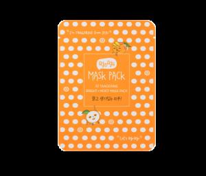 Корейска козметика Qyo Qyo шийт маска с мандарини